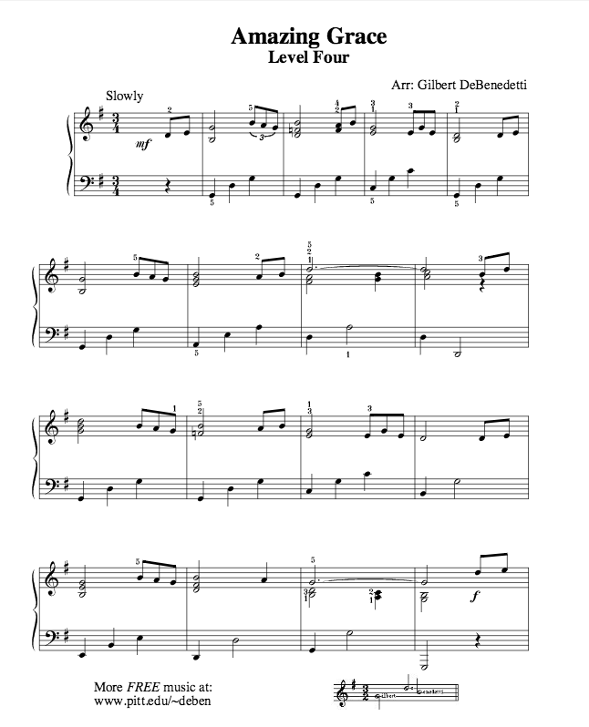 Amazing Grace Free Piano Sheet Music With Lyrics: History Amazing Grace Is A Well-known Christian Hymn By