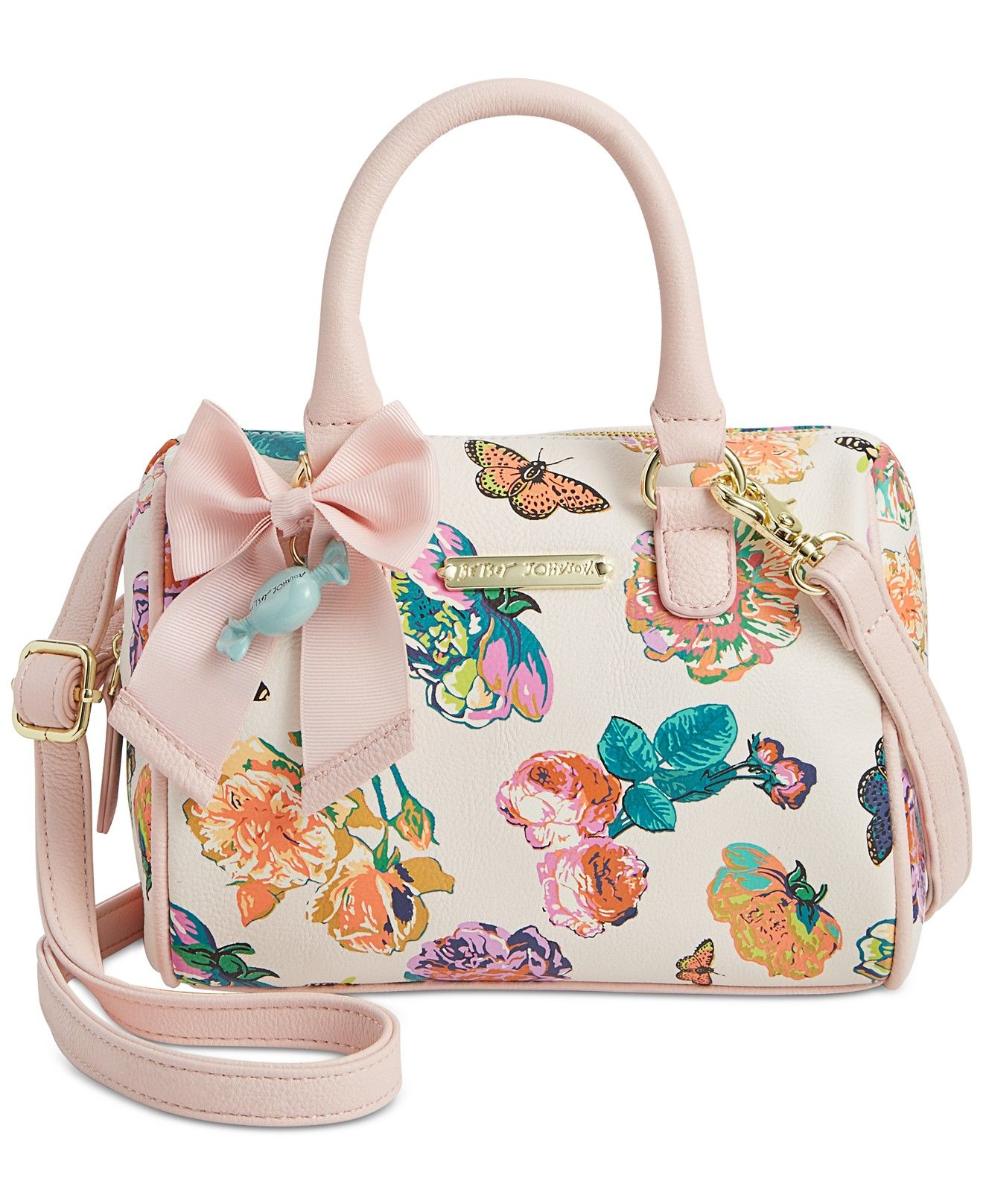 c5ab5b1b5 Betsey Johnson Mini Barrel Crossbody - Handbags & Accessories - Macy's
