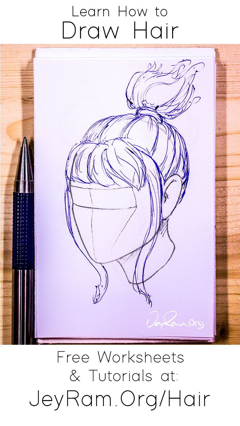 How To Draw Hair Tutorials Worksheets And References In 2020 How To Draw Hair Drawings Hair In The Wind