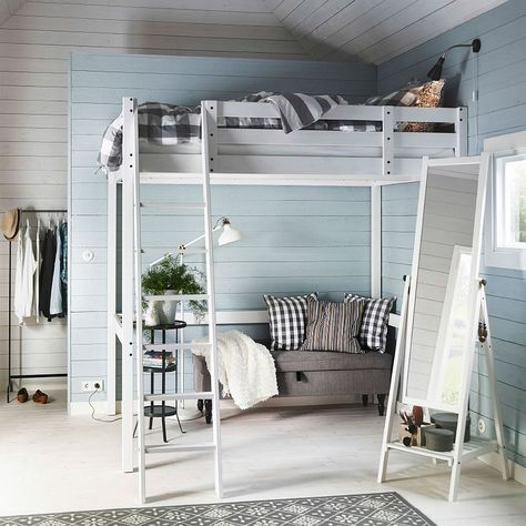 17 Marvelous SpaceSaving Loft Bed Designs Which Are Ideal For Small Homes is part of Small home Aesthetic - If you have problems with a lack of living space, bunk or loft beds are the ideal solution for you  Loft beds are always linked as beds for the children