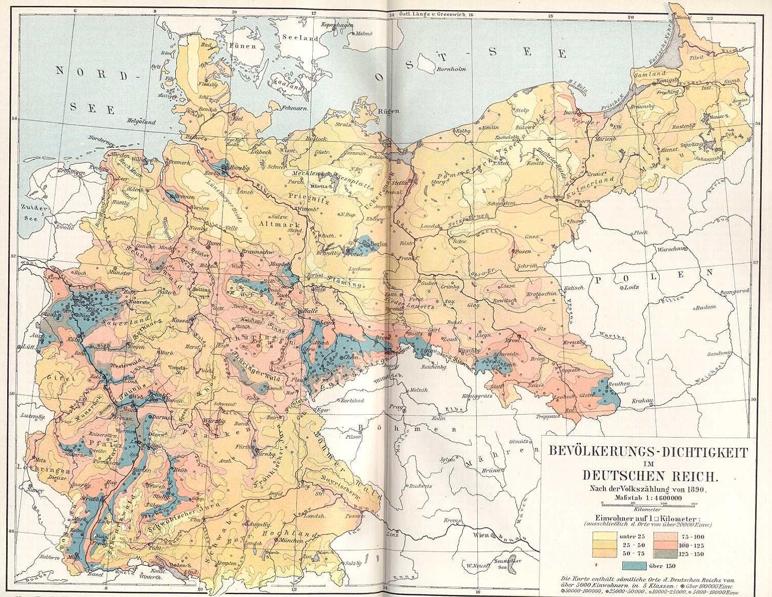 Deutschland Bevolkerungsdichte Karten Weimar Und Deutschland
