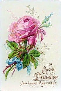Chocolat Poulain Vintage Posters Vintage Postcards Vintage Roses