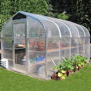 WilTec Invernadero de jard/ín Pl/ástico para Invernadero PE Tunel Cultivo 300x200x200cm Ventanas Laterales
