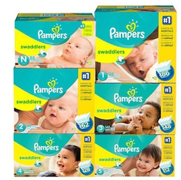 Pampers Swaddlers Diapers Newborn Size 1 2 3 4 5 Pick Any