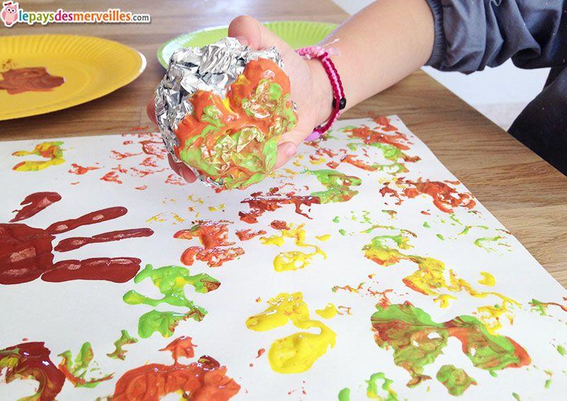 Peindre Un Arbre D Automne Avec Du Papier Aluminium Arbre Automne Arbres Peints Arbre