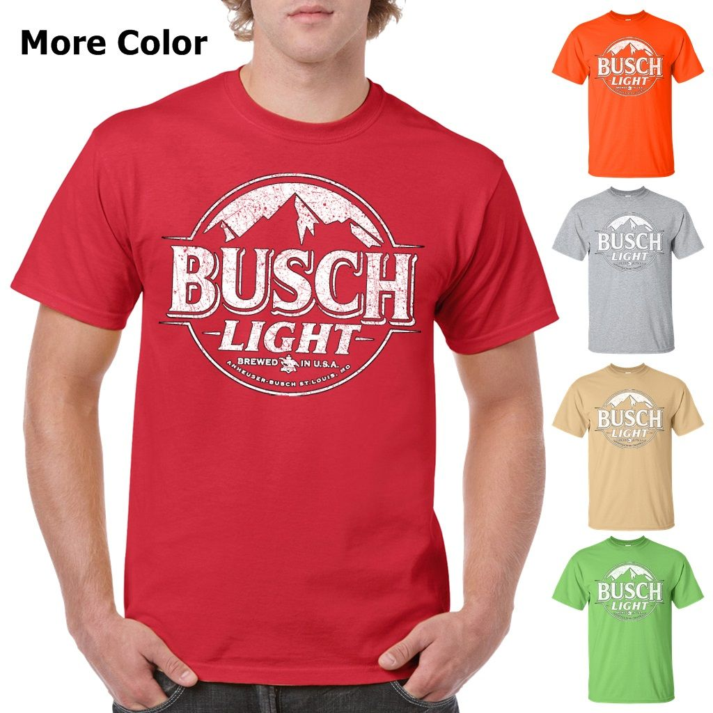 9fdac2c6e2 Busch Light Beer T-Shirt Custom Designed White Worn Label Pattern Custom  Designed Graphic Worn Faded Scratched Pattern Label Logo Colorful Cotton T- Shirt ...