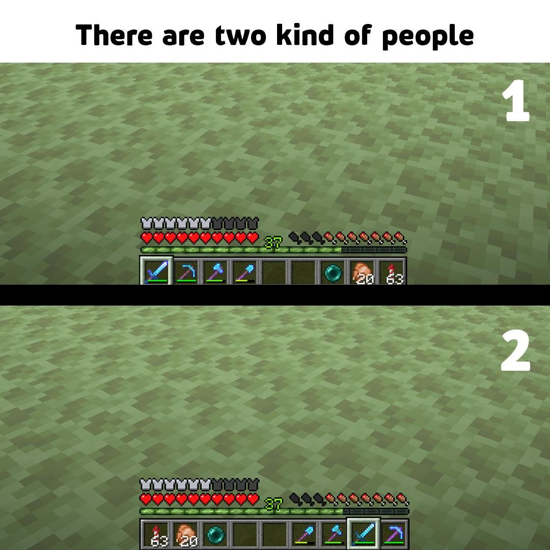 Which One Are You By U Jhotass In 2020 Minecraft Memes Funny Gaming Memes Dark Humour Memes