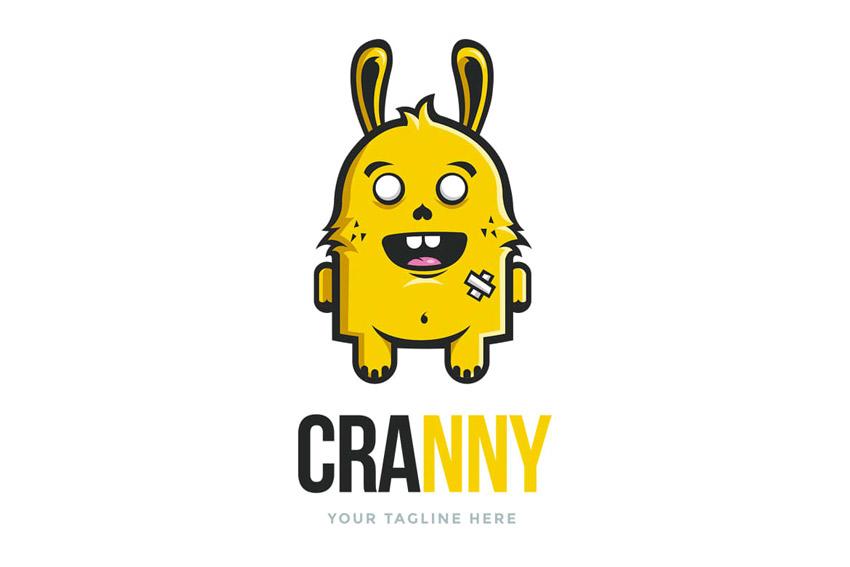 Crazy Bunny Logo Template by Odin_Design on Envato