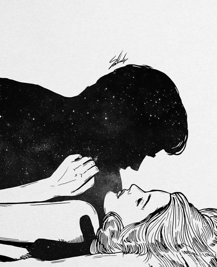 Черно-белые открытки про любовь