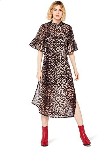Marca de Amazon – buscar.  Vestido midi animalier para mujer  – Moda
