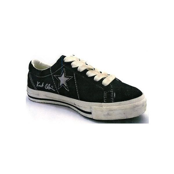 e08de6ee529829 Kurt Cobain x Converse One Star Low ❤ liked on Polyvore