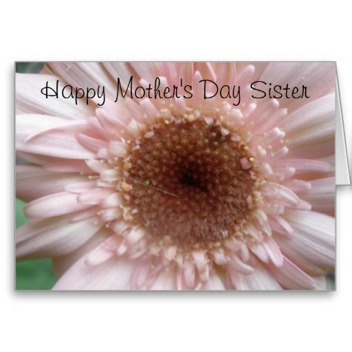 Happy Mothers Day Sister Card Quotes Pinterest Happy Mothers
