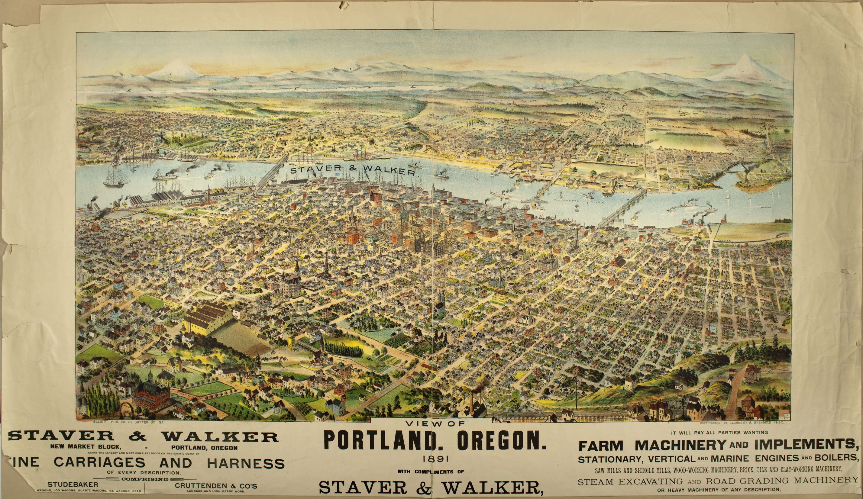 Seattle Map Funny%0A Historic Map of Seattle  WA         Panoramic Maps   Pinterest   Seattle  and Map america