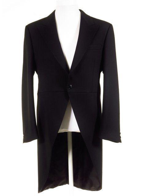 Freemasons Tailcoat - Magee Morning Coat - Ex-Hire - Black Herringbone Wool  Tailcoat - All Sizes 09c24ec102b