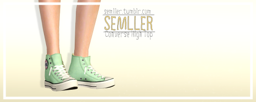 Converse High Tops by Semller Added To CC Master List
