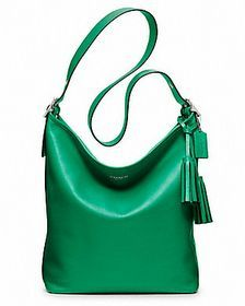 Coach Legacy Leather Duffle Bag Tote Purse Emerald Green Silver 19889 Ebay