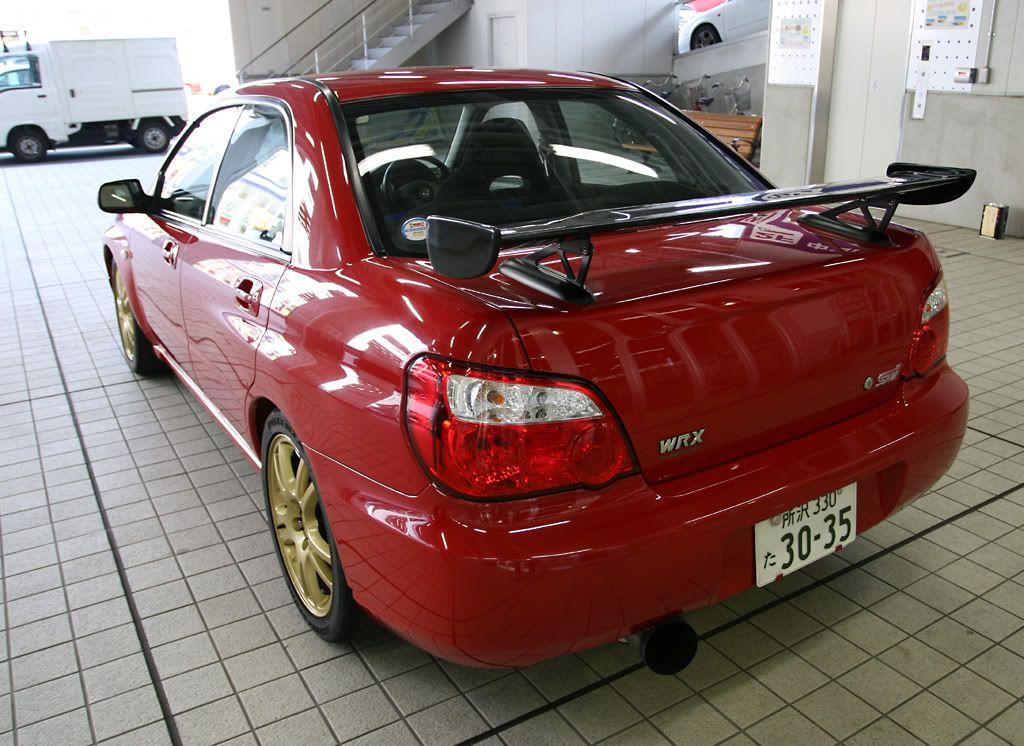 Japanese Cars · Subaru · Red STI Spec C Type RA (look)
