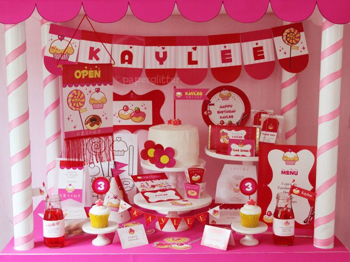 NEW TO THE SHOP: Kawaii Sweet Shoppe Printable Party Kit