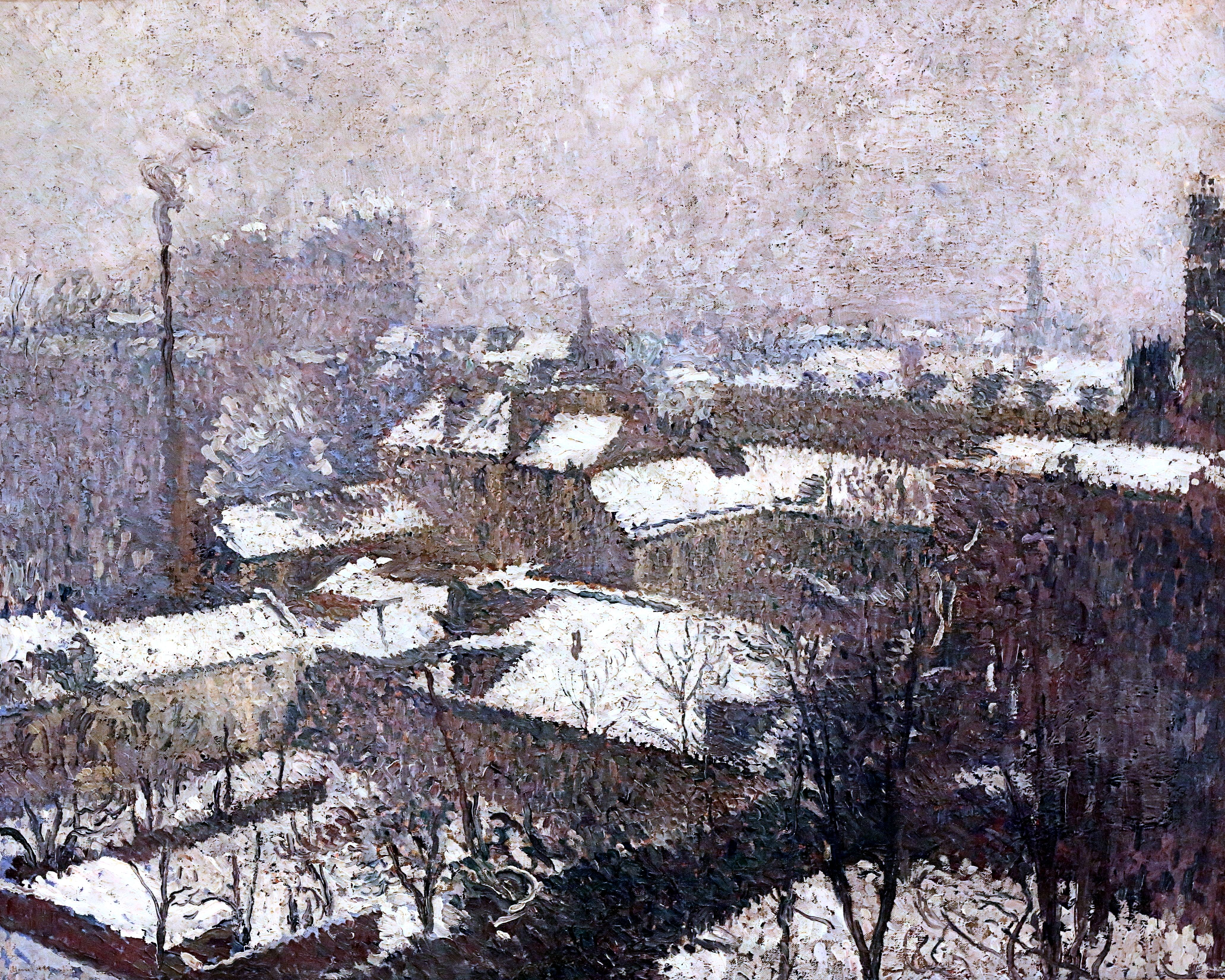 Henri Jean Guillaume Martin 1860 1943 Toits De Paris Sous La Neige Roofs Of Paris Under The Snow 1943 Strasbourg Musee D Art Moder Cityscape Art Painting