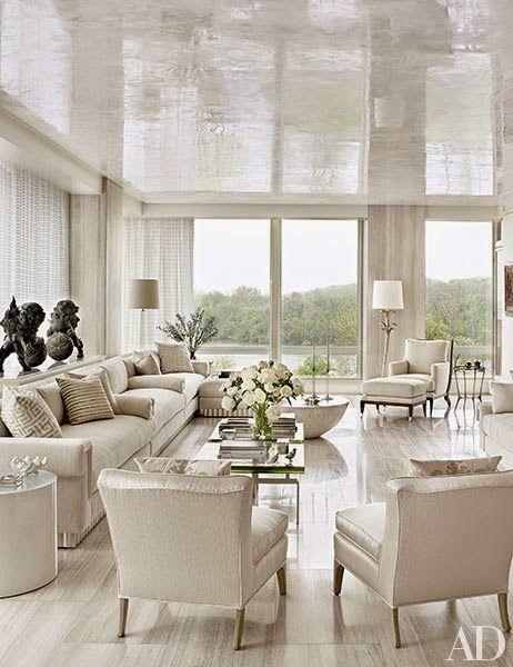 Home Tour A Luxury Washington D C Apartment Living Room White Interior White Living Room