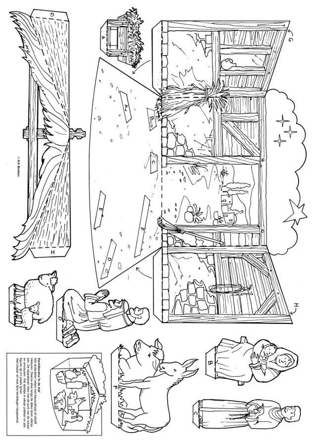 Placa artesanal bíblica Navidad - Diorama  - new coloring pages for christmas story