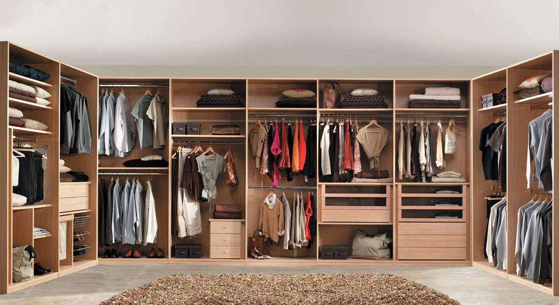 r19 armario disposicin en u interiores a medida facil mobel fbrica - Interiores De Armarios