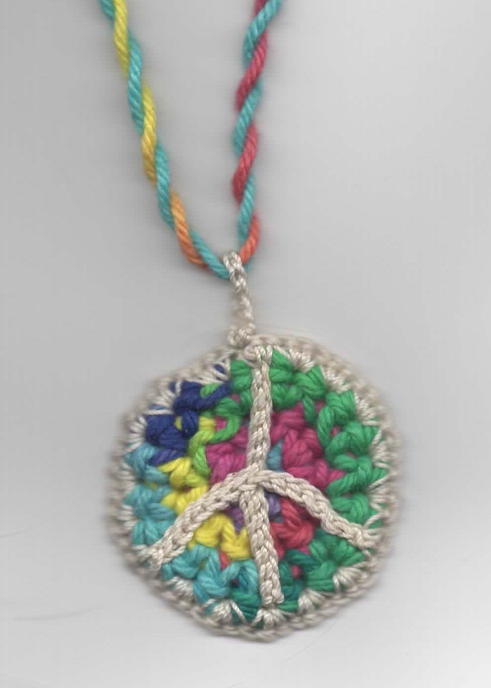 Dont eat the paste crochet peace symbol necklace free pattern dont eat the paste crochet peace symbol necklace free pattern buycottarizona Gallery