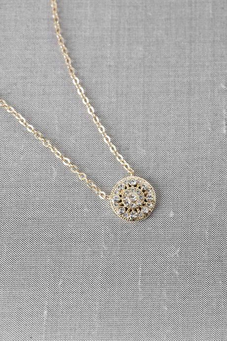 Seraphina Crystal Pendant Necklace Francesca S