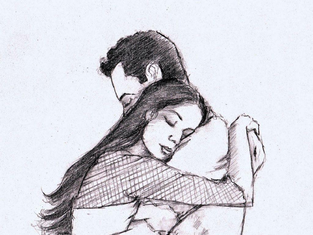 Collection Of Hugging Couple Drawing Download More Than 30 Images Love Sketch Images Beautiful Pencil Sketches Drawings