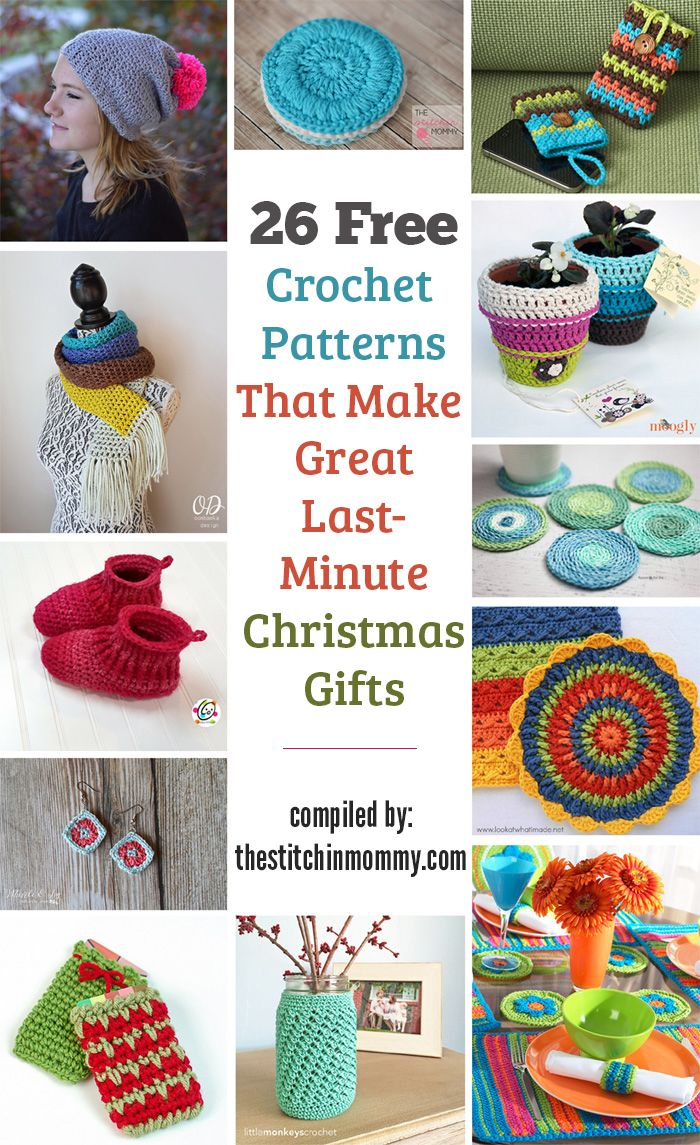 26 Free Crochet Patterns That Make Great Last Minute Gifts ...