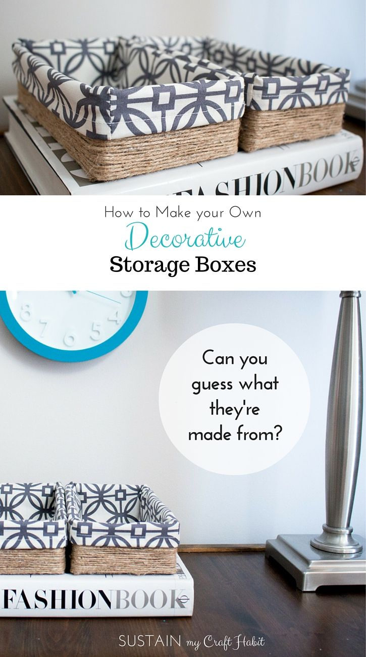 Storage Boxes Decorative Fabric Upcycling A Tissue Box Into A Diy Decorative Storage Box
