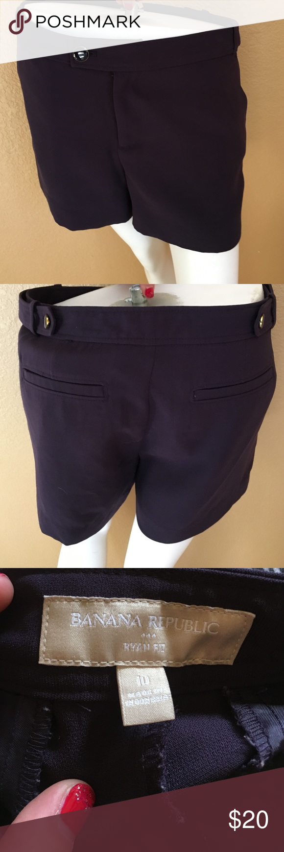 Plum Banana Republic Shorts! Plum Colored Banana Republic Ryan Fit Shorts! Size 10, in excellent condition only worn a couple times! Banana Republic Shorts
