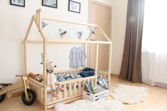 Toddler bed, house bed, tent bed, wooden house, wood house, wood