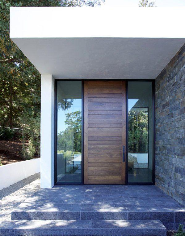 Hillsborough residence mak studio architects entrance for Building door design