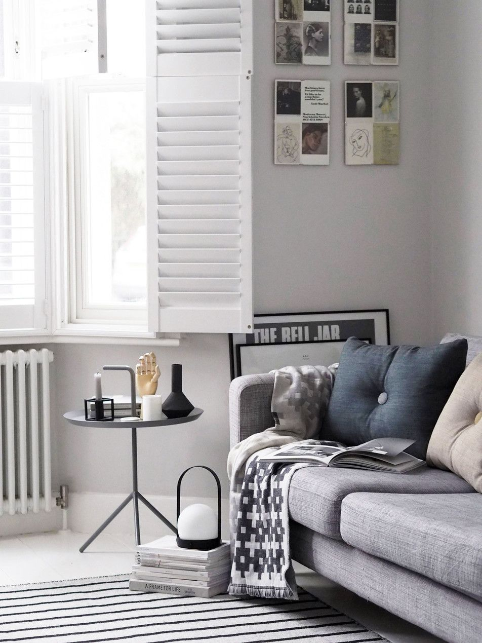 Light grey living room - scandinavian interiors - HAY cushions and ...