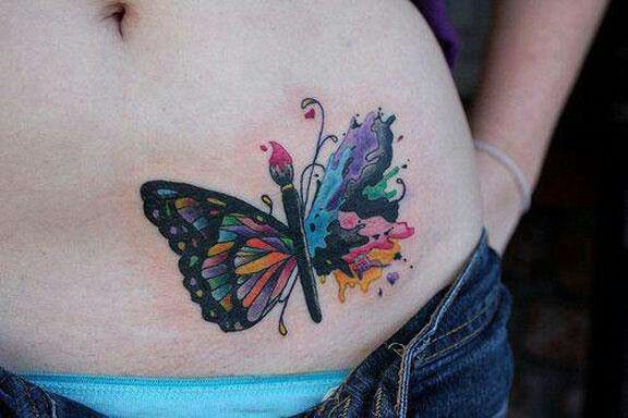 b9284d4e7 Paint brush butterfly tattoo | All about the ink! | Butterfly tattoo ...