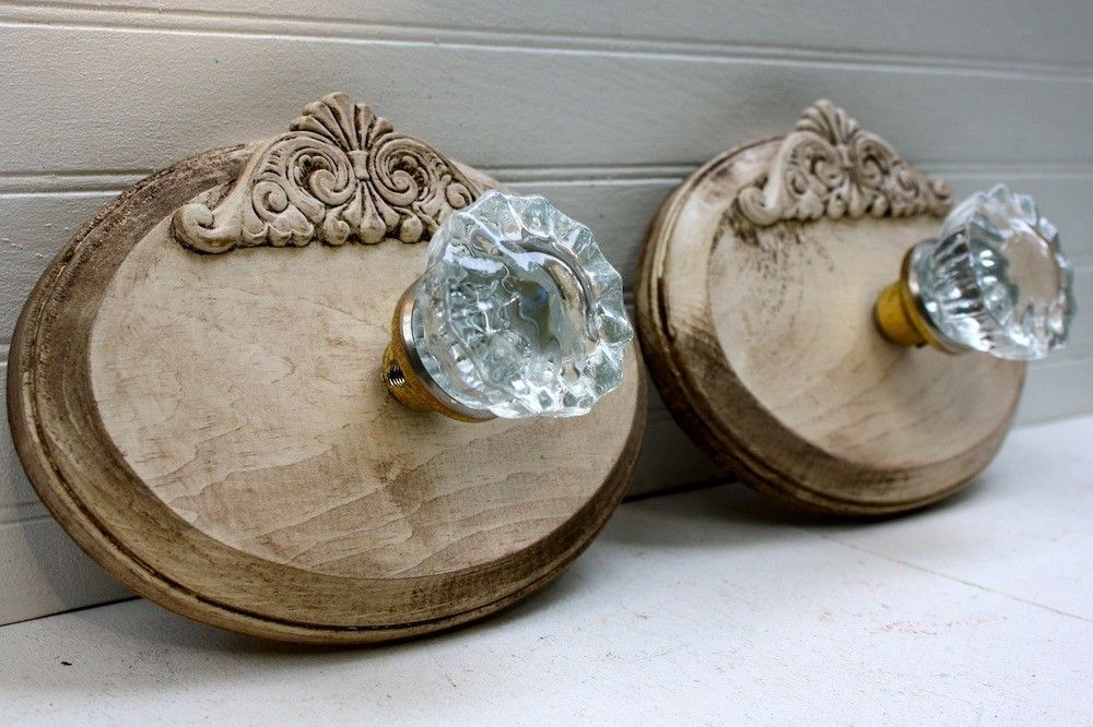 Repurposed Vintage Glass Door Knob Petite Wall Hook | Glass door ...