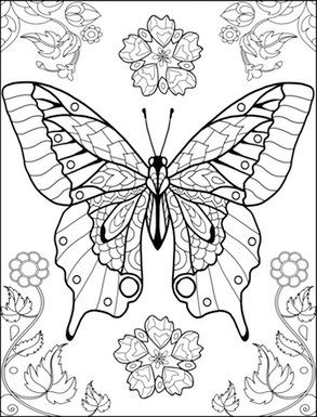 world of butterflies coloring page | coloring pages | Pinterest ...