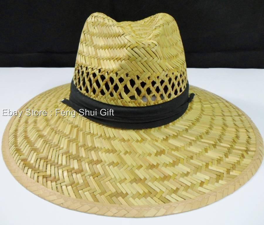 AA Men Panama Garden Fishing Sun Pool Beach Bamboo Wide Large Brim Straw  Hat 357d26e33a7