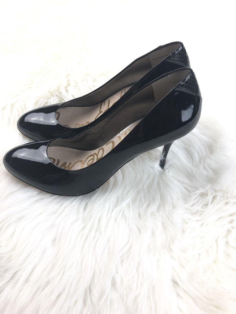 8a3c2be9e782 Sam Edelman Camdyn High Heels Pumps Black Women s Shoes Size 7 1 2M  fashion