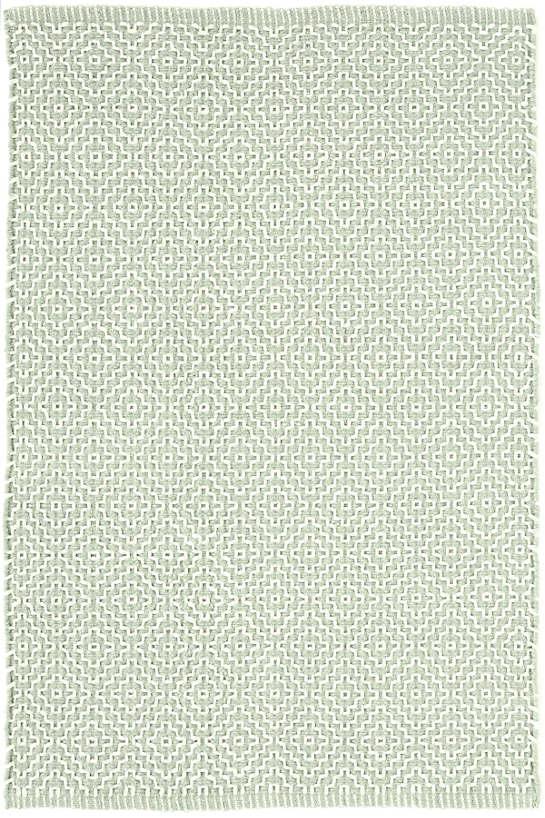 Beatrice Blue Woven Cotton Rug Dash