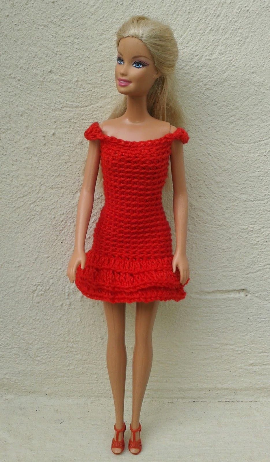 Lyns dolls clothes barbie in red crochet dresses barbie ravelry barbie in red crochet dresses pattern by linda mary bankloansurffo Image collections
