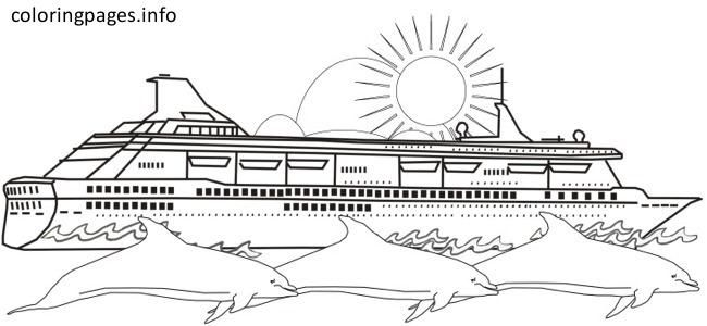 crusie ship coloring pages - photo#17