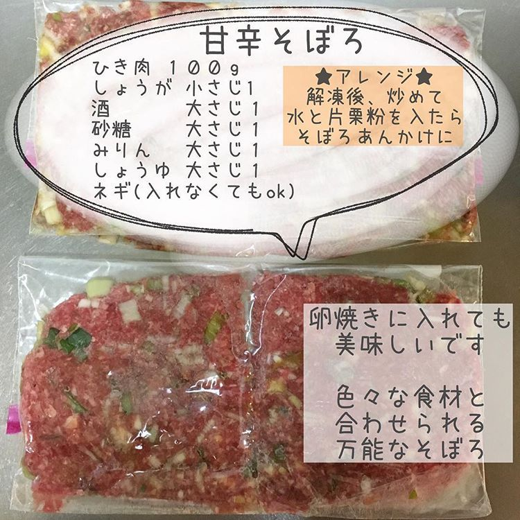 豚 ひき肉 下味 冷凍