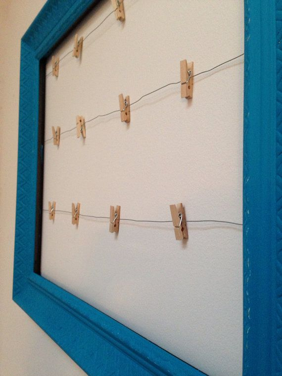 Clothesline Wire Hanging Picture Frame Clothespin