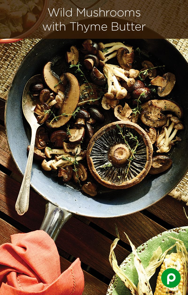 Wild Mushrooms with Thyme Butter | Recipe | Unsalted butter, Apron ...