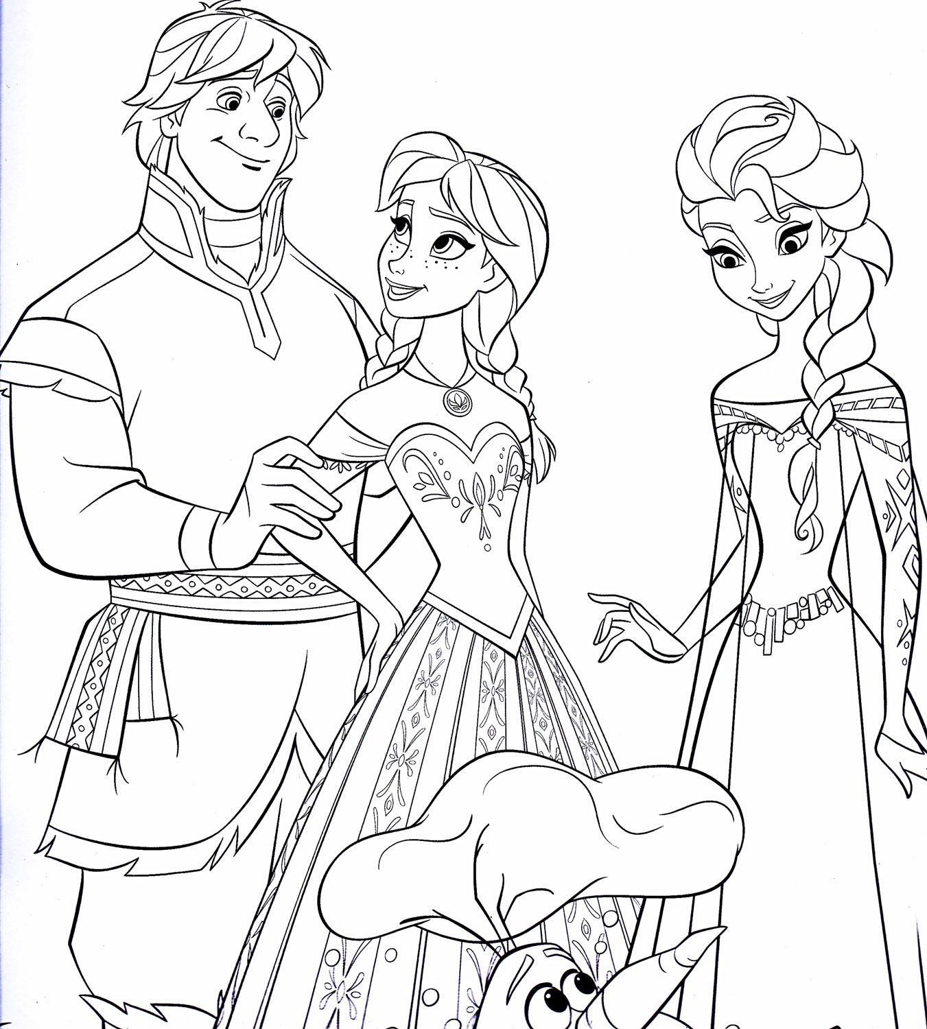 Coloring Pages Frozen - Disney frozen coloring sheets dibujos para colorear de frozen y el reino del hielo