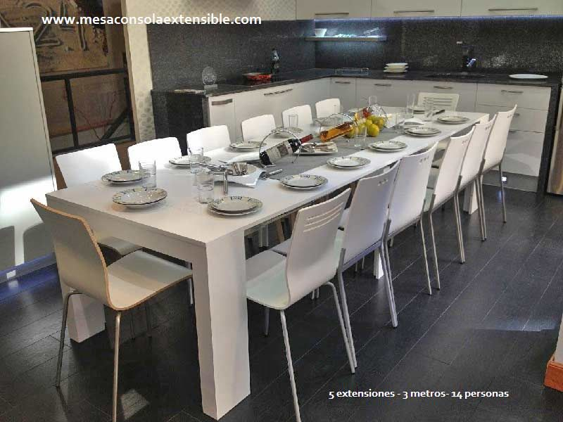 Mesa consola extensible para salon o comedor que podemos abrir desde ...