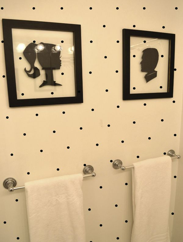 Taylor Morgan New York City Fashion Blogger Polka Dot Bathroom