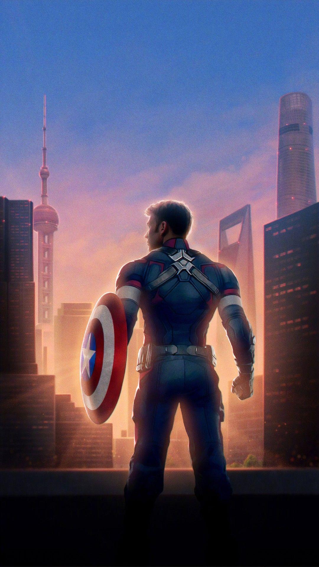 Captain America Avengers Endgame Wallpaper For Iphone Best Iphone Wallpaper Kapten Marvel Pahlawan Marvel Captain America